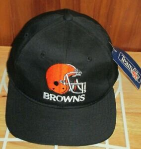 NWT NFL Starter Cleveland Browns Embroidered Men's Black Snapback Hat VTG 90s