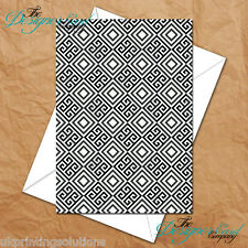 General Greeting Card - B&W Large Diamonds Print Monochrome