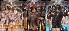 "USED JAPAN Masamune Shirow Art book ""W-Tails Cat"" 1,2,3 set F/S Track"