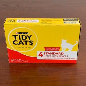 """Purina TIDY CATS 4 standard litter box liners 22""""x30""""/1.2mil"""