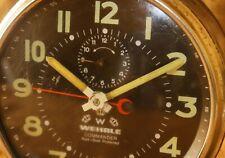 Vintage Wehrle Commander Repeat alarm clock Good Working Black Dial Germany #53