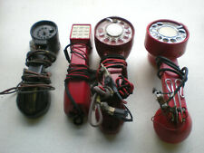 4 Vintage Lineman's Butt Set Test Phones 3 ROTARY & 1 PIN DIAL untested