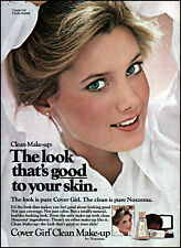 1978 Cindy Harrell teen Cover Girl Clean Make-up retro photo print ad ads76