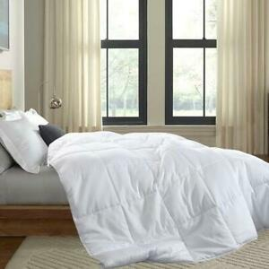 Bamboo Filled Blanket Breathable 100% Cotton Sateen White Shell 300 Thread Count
