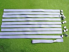 50 x Blank Fabric Wristbands for Sublimation or Vinyl Print,Metal Clip 15mm UK