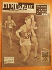 Miroir Sprint N° 638 du 25/8/1958-Popov a écoeuré Mimoun-Nancy-Le Racing 4-4