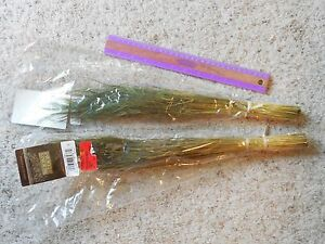 """NEW Lot of 2 Home Decor 1 ounce bunches Stipa Olive 16"""" -18"""""""