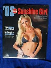 PIN UP GIRL CALENDAR 2003 TORONTO SUN SUNSHINE GIRL NEWSPAPER READERS TOP 13