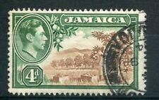 JAMAIQUE, 1938, timbre 129,  fleurs,  citrons, oblitéré