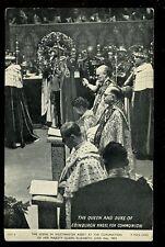 Royalty CORONATION Queen Elizabeth Communion 1953 PPC