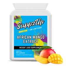 Suppzup Pure African Mango 18000mg 60 Capsules SUPER STRENGTH Weight Loss Diet