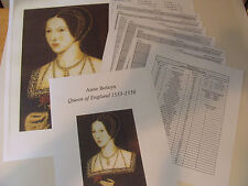 Queen Anne Boleyn Cross Stitch Needlework Pattern Chart wife - King Henry VIII