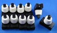 20 Stück Einbau Druckschalter für Lampen 250V 2A Schwarz - Weiß