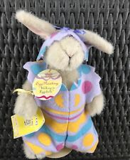 """Easter Plush Rabbit Hoppy Vanderhare  """"Walking In Eggshells"""" With Tag & Stand"""