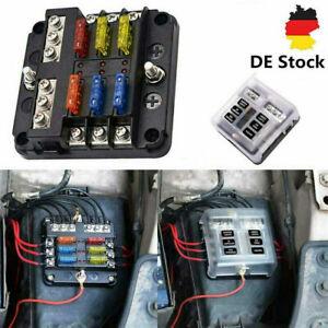 Auto ATO Sicherungshalter KFZ LKW Sicherungskasten Boot Sicher 6 Weg 12V~32V DEC