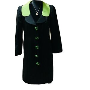 moschino cheap and chic vintage jacket Black And Green With Ornate Buttons