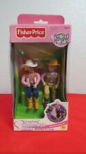Fisher Price Loving Family WESTERN STYLE HORSE RIDERS Madison Cody NEW!