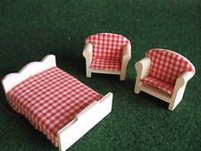 Bed and armchairs wooden cart 27