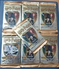 HARRY POTTER TRADING CARD GAME 2001 - 7 FACTORY PORTUGUESE SEALED BOOSTERS
