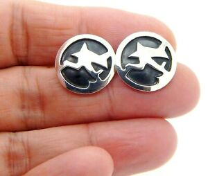 Arcturus Running Sterling Silver Earrings by Unknown Albuquerque Artist