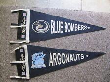 Winnipeg Blue Bombers & Toronto Argonauts CFL Felt Pennants c.1960's.