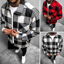 Flanellhemd Langarmhemd Sweatjacke Kariert Shirt Classic OZONEE O/DR2021Z Herren