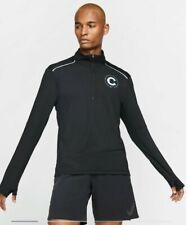Mens Nike 2019 Chicago Marathon Half Zip Large Running Shirt Black Long Sleeve