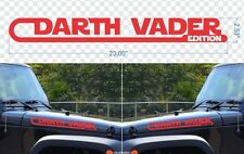 2x DARTH VADER EDITION Star Wars HOOD STRIPES JEEP Car Vinyl Sticker Decal