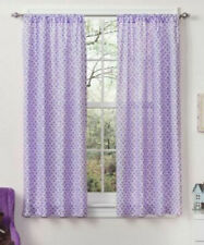 "*Mainstays Kids Purple Geometric Medallion Window Panel Set of 2, 40"" x 63"""