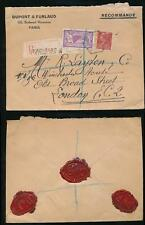 FRANCE 1930 REGISTERED HEXAGONAL TPO PRINTED ENVELOPE DUPONT + FURLAUD + SEALS