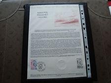 FRANCE - document officiel 1er jour 30/4/1983 (max-pol fouchet) french