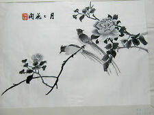 VINTAGE CHINESE SILK EMBROIDERY PICTURE - BIRDS AND FLOWERS