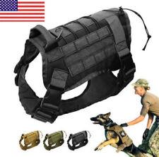 New listing Us Tactical Black L K9 Training Dog Harness Military Adjustable Molle Nylon Vest