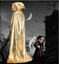 Hooded Halloween Sorcerer Grim Reaper Wizard Vampire Witch Cloak Cape Gothic