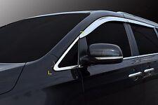 Chrome A-Pillar Cover Trim Molding Set Tape On 4pc For Kia Sedona 2014-2016 NEW
