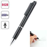 8GB SPY Hidden sound Audio Voice Recorder Pen USB Mini Portable Rechargeable