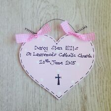 PERSONALISED Christening Naming Day Sign ~ Gift Present ~ BABY GIRL ~ Heart