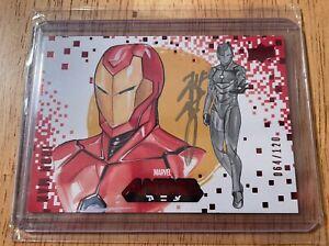 2020 Upper Deck Marvel Anime Peach Momoko Autograph Iron Man Auto #64/120