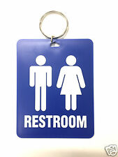 Restroom Toilet Keytag LARGE for Office Gas Stations Retail Stores Heavy Duty