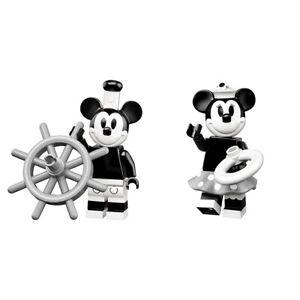 LEGO DISNEY MINI FIGURES SERIES 2 STEAMBOAT WILLIE MICKEY & VINTAGE MINNIE NEW