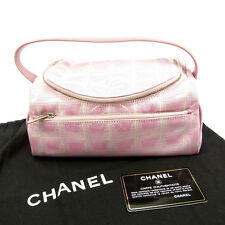 Chanel Pouch Bag Vanity New travel line Pink Woman Authentic Used Y5200
