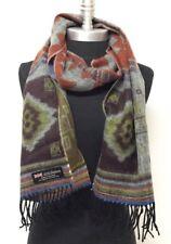 New 100%Cashmere Scarf Wrap SCOTLAND Warm Soft Color Jade/brown/orange/blue/lime