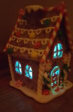 Gingerbread Lighted Light Up Christmas Candy House Ginger bread Color Changing