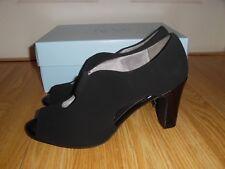 NEW Life Stride Carla Black Faux Suede Women's Size 9.5 M Open Toe Booties Shoes