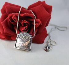 Lady Remington Rhinestone PUrse Locket  Necklace  CAT RESUCE