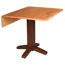 Whitewood 36 Square Dual drop leaf dining table Cinnemon/Espresso T58-36SDP NEW