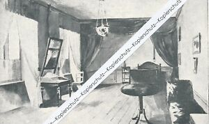 Geburtszimmer von Bismarck in Schönhausen - Druck um 1915 1920 .......... R15-4