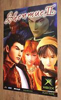 Shenmue II  very rare Promo Poster 84x59.5cm Sega Xbox