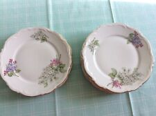 "8 Vintage Bavaria Germany Lilac Plates Porcelain Vintage Mitterteich 7"" diameter"