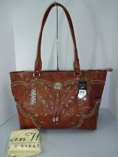 AMERICAN WEST LADY LACE TAN LARGE CARRY-ON TOTE LUGGAGE BAG HANDBAG NWT $389RTL